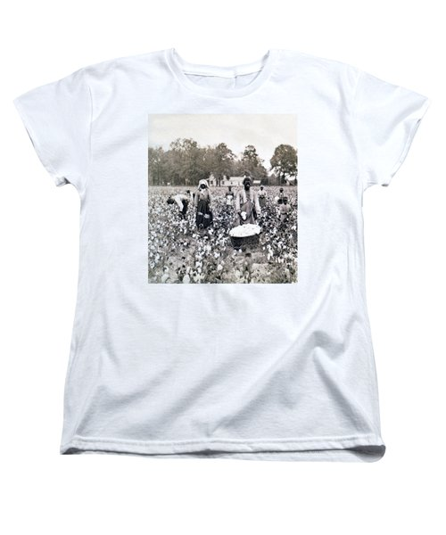 Georgia Cotton Field - C 1898 Women's T-Shirt (Standard Cut) by International  Images