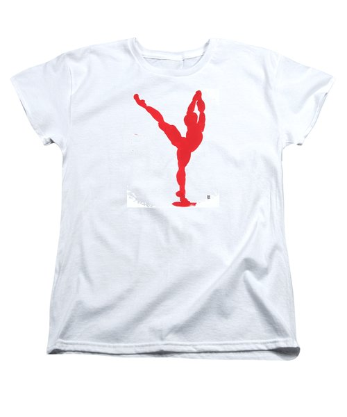 Gesture Brush Red 1 Women's T-Shirt (Standard Cut) by Shungaboy X