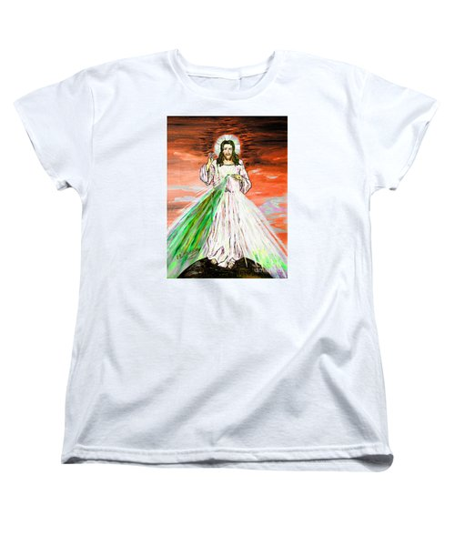 Women's T-Shirt (Standard Cut) featuring the painting Gesu' by Loredana Messina