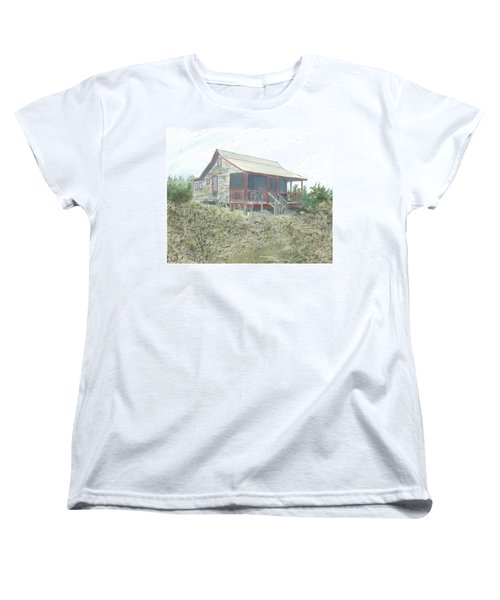 Get Away Cottage Women's T-Shirt (Standard Cut) by Joel Deutsch