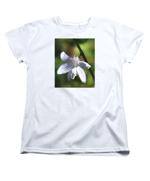 Ghost Flower Women's T-Shirt (Standard Cut) by Susan Crossman Buscho