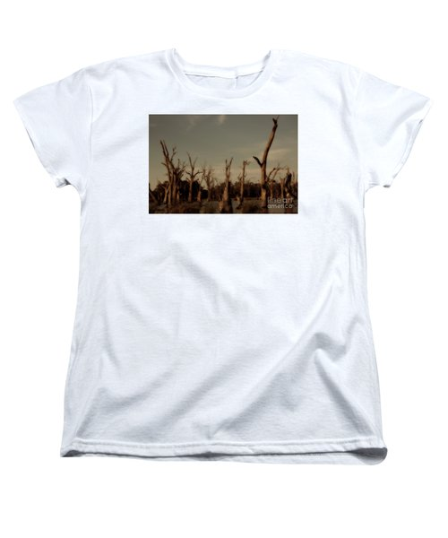 Women's T-Shirt (Standard Cut) featuring the photograph Ghostly Trees by Douglas Barnard