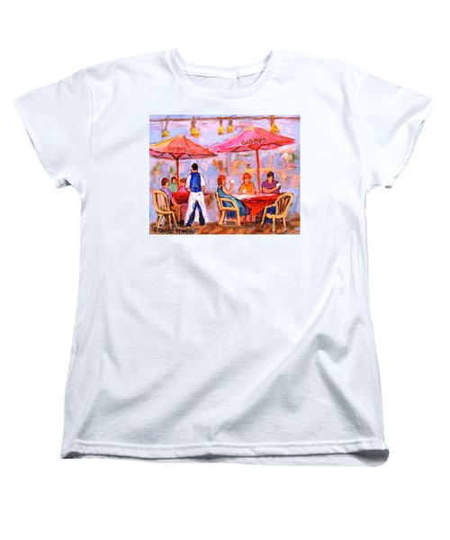 Women's T-Shirt (Standard Cut) featuring the painting Gibbys Cafe by Carole Spandau
