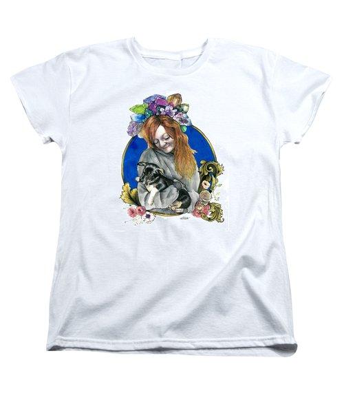 Ginger And Her Lovelies Women's T-Shirt (Standard Cut) by Arleana Holtzmann