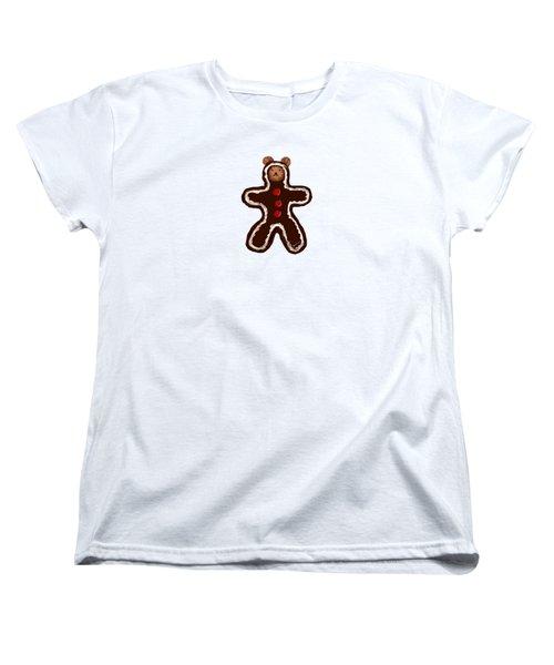 Gingerbread Teddy Women's T-Shirt (Standard Cut) by Jean Pacheco Ravinski