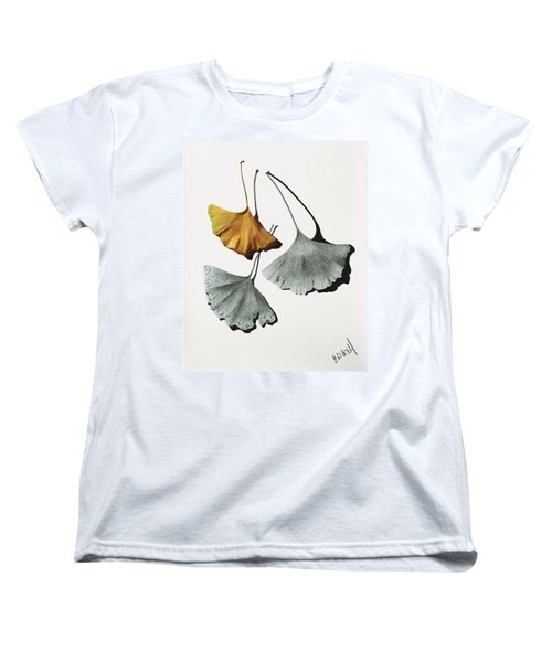 Ginkgo Leaves Women's T-Shirt (Standard Cut) by Garry McMichael