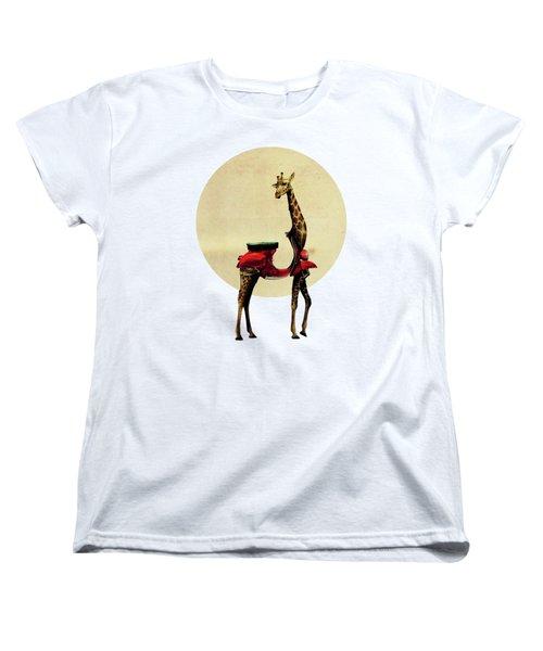 Giraffe Women's T-Shirt (Standard Cut) by Ali Gulec