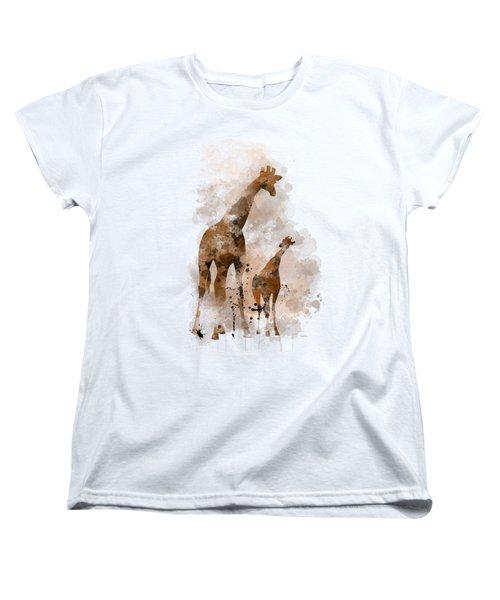 Giraffe And Baby Women's T-Shirt (Standard Cut)