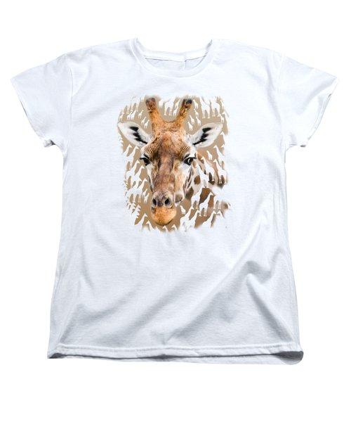 Giraffe Clothing And Wall Art Women's T-Shirt (Standard Cut) by Linsey Williams