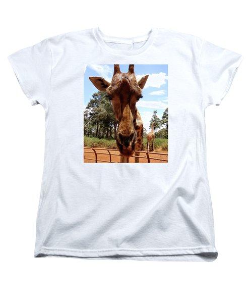 Giraffe Getting Personal 6 Women's T-Shirt (Standard Fit)