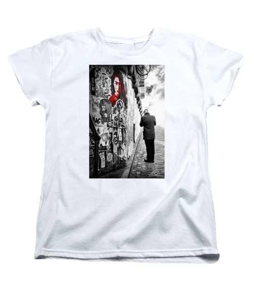 Girl In Red Women's T-Shirt (Standard Cut) by Anthony Citro
