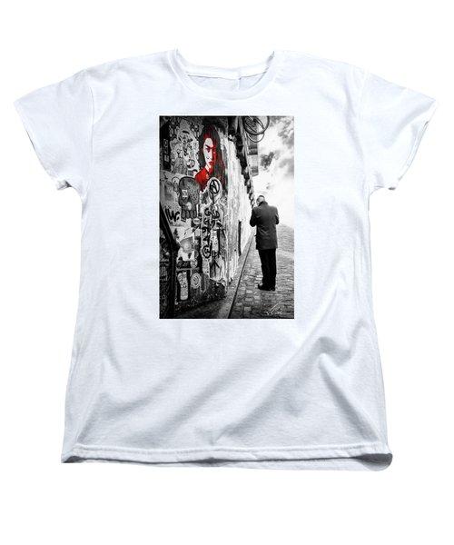 Girl In Red Women's T-Shirt (Standard Cut)