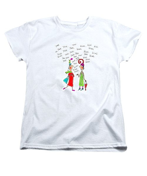 Girl Talk Women's T-Shirt (Standard Cut) by Karon Melillo DeVega