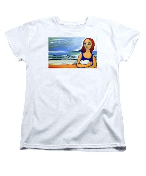 Girl With Bird Women's T-Shirt (Standard Cut)