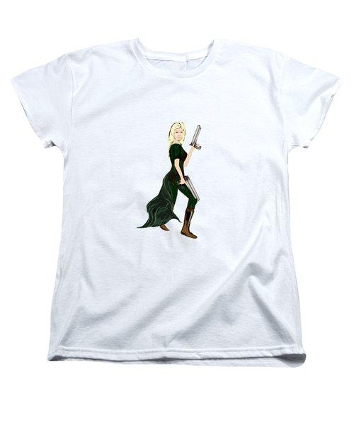 Girl With Guns Women's T-Shirt (Standard Cut) by Tom Conway