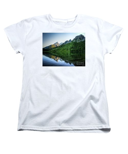 Women's T-Shirt (Standard Cut) featuring the photograph Glacier Lake by Rebecca Hiatt