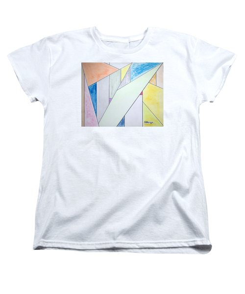 Women's T-Shirt (Standard Cut) featuring the mixed media Glass-scrapers by J R Seymour