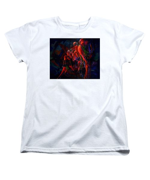 Women's T-Shirt (Standard Cut) featuring the painting Glow by Georg Douglas