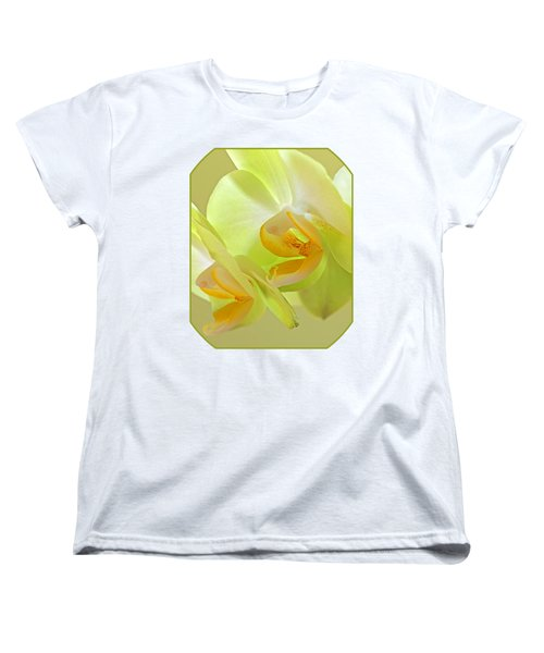 Glowing Orchid - Lemon And Lime Women's T-Shirt (Standard Cut) by Gill Billington