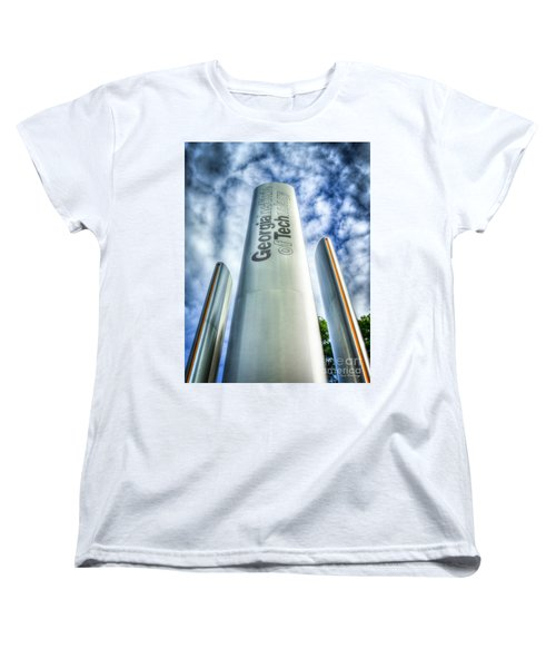 Women's T-Shirt (Standard Cut) featuring the photograph Go Tech 2 Georgia Tech Art by Reid Callaway