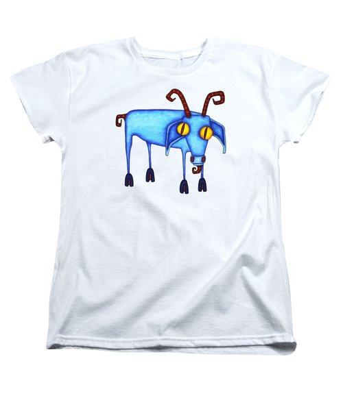 Goat Women's T-Shirt (Standard Cut) by Joan Krygsman