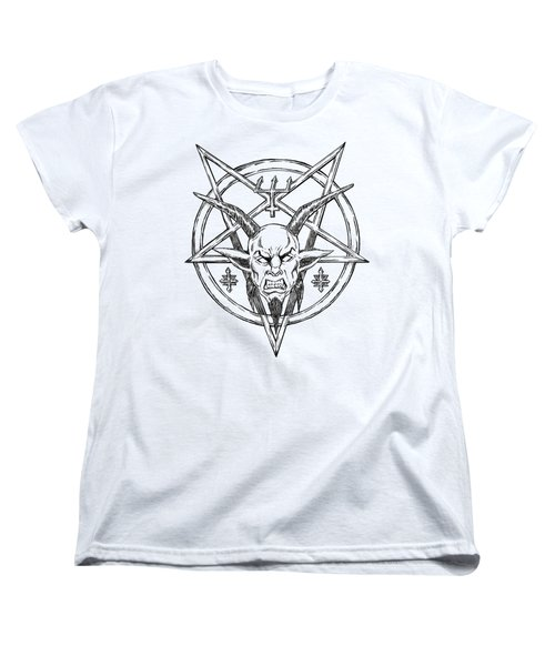 Goatlord Logo Women's T-Shirt (Standard Cut) by Alaric Barca