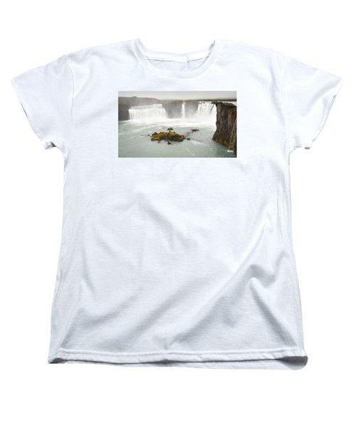 Godafoss Women's T-Shirt (Standard Cut) by Joe Bonita