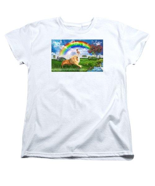 Women's T-Shirt (Standard Cut) featuring the digital art God's Perfect Promise  by Dolores Develde