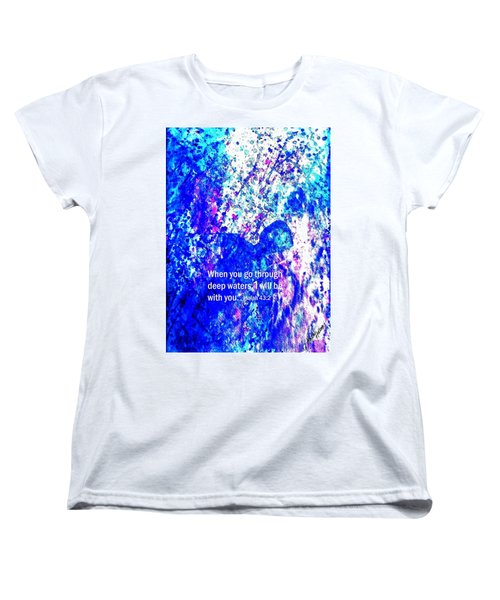 Women's T-Shirt (Standard Cut) featuring the painting Going Through Deep Waters by Hazel Holland