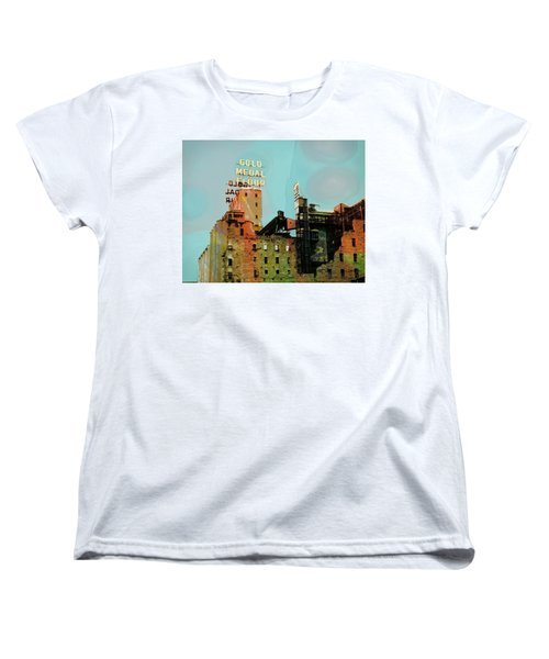 Women's T-Shirt (Standard Cut) featuring the photograph Gold Medal Flour Pop Art by Susan Stone
