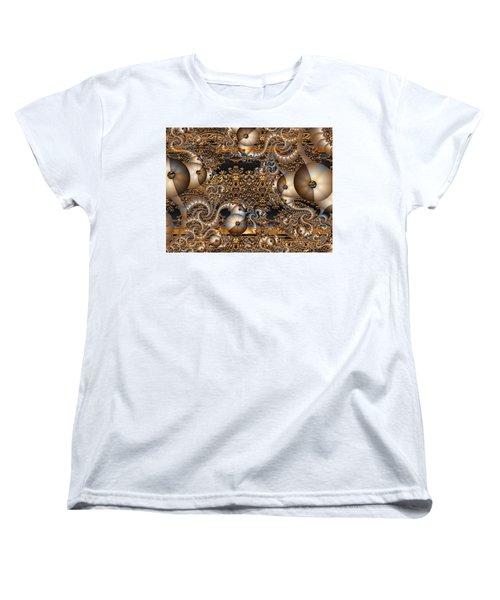 Women's T-Shirt (Standard Cut) featuring the digital art Gold Rush by Robert Orinski
