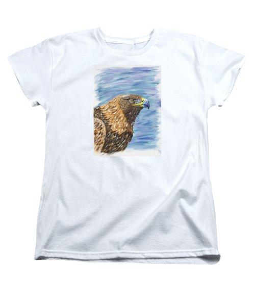 Golden Eagle Women's T-Shirt (Standard Cut) by Scott Wilmot