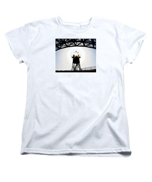 Golden Gate Above Fort Point Women's T-Shirt (Standard Cut) by John King