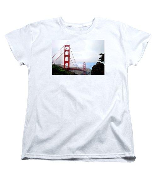 Golden Gate Bridge Full View Women's T-Shirt (Standard Cut) by Matt Harang