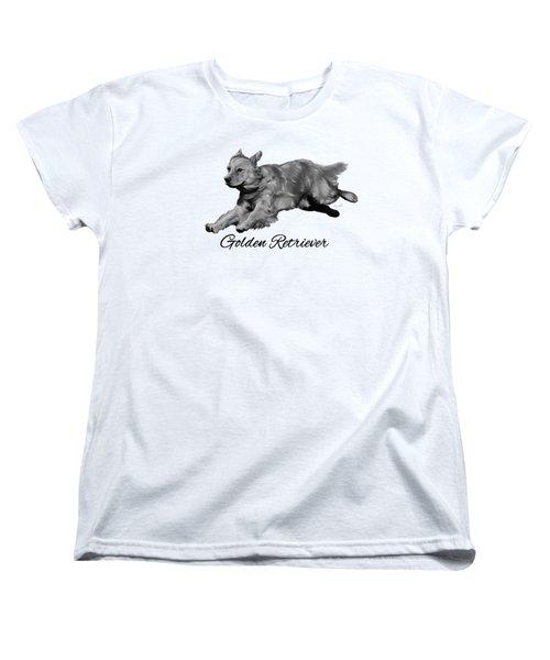 Golden Retriever Women's T-Shirt (Standard Cut) by Ann Lauwers