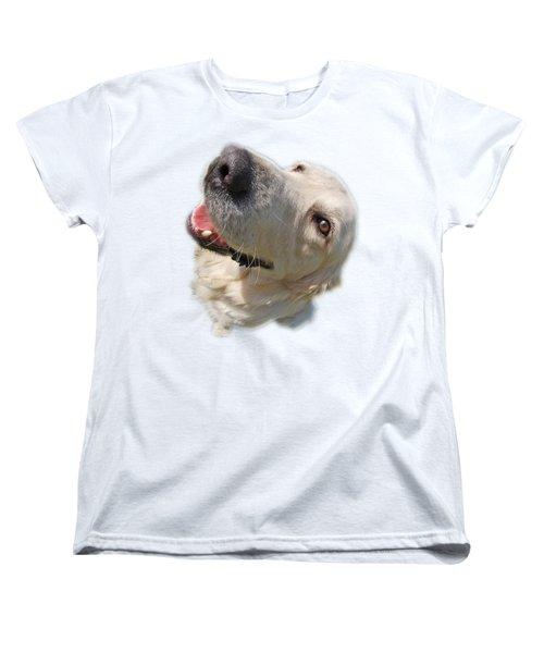 Women's T-Shirt (Standard Cut) featuring the photograph Golden Retriever by George Atsametakis