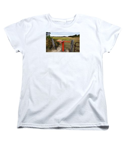 Women's T-Shirt (Standard Cut) featuring the photograph Golf Range 01 by Kevin Chippindall
