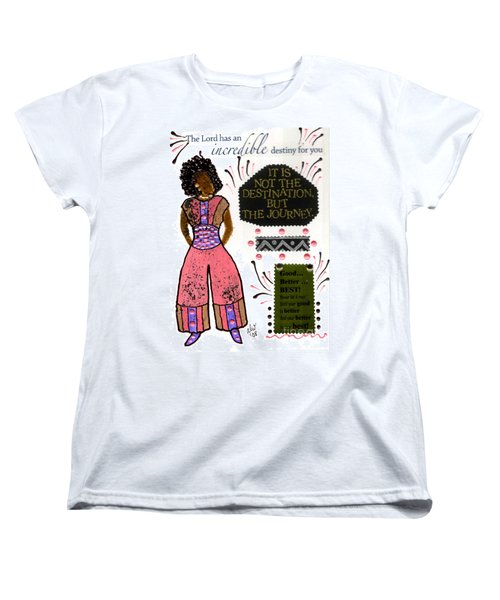 Women's T-Shirt (Standard Cut) featuring the mixed media Good Better Best by Angela L Walker