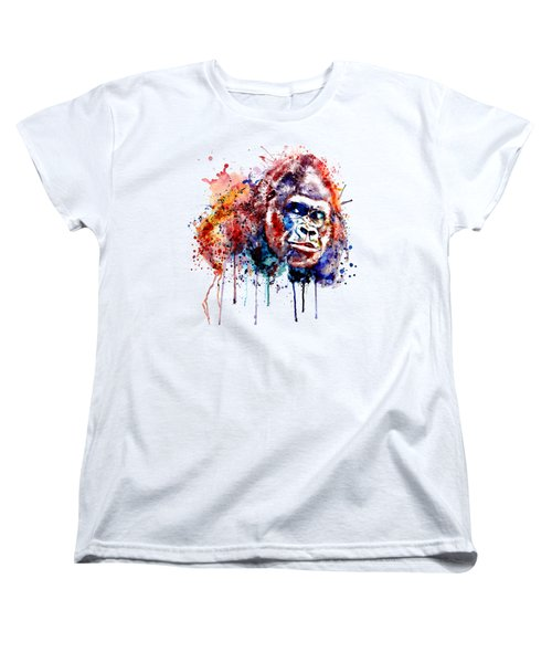 Gorilla Women's T-Shirt (Standard Cut) by Marian Voicu