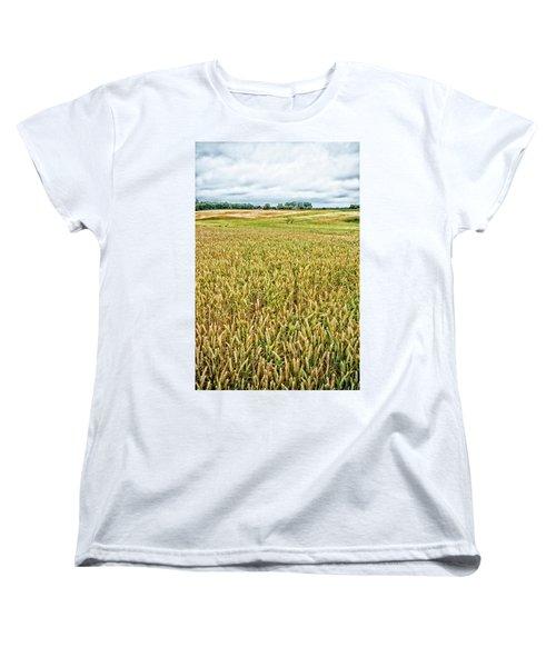 Grain Field Women's T-Shirt (Standard Cut) by Hans Engbers