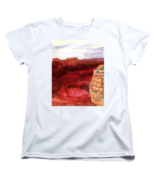 Women's T-Shirt (Standard Cut) featuring the painting Grand Canyon S Rim by Eric Samuelson
