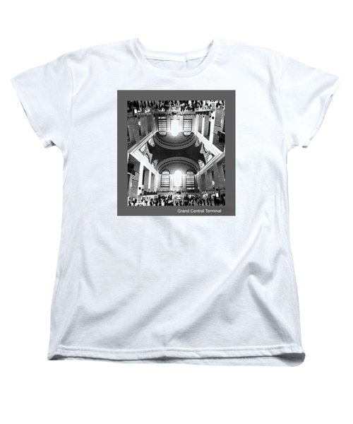 Women's T-Shirt (Standard Cut) featuring the photograph Grand Central Terminal Mirrored by Diana Angstadt