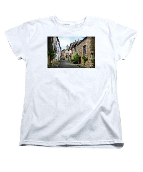 Grand Rue De L'horlogue In Cordes Sur Ciel Women's T-Shirt (Standard Cut) by RicardMN Photography