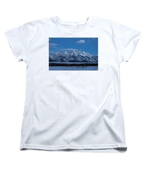 Grand Teton National Park Sunrise Women's T-Shirt (Standard Cut) by Serge Skiba