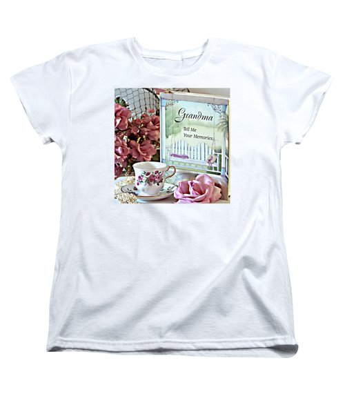 Women's T-Shirt (Standard Cut) featuring the photograph Grandma Tell Me Your Memories... by Sherry Hallemeier