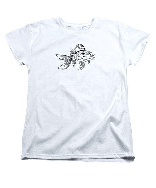 Graphic Fish Women's T-Shirt (Standard Cut) by Masha Batkova
