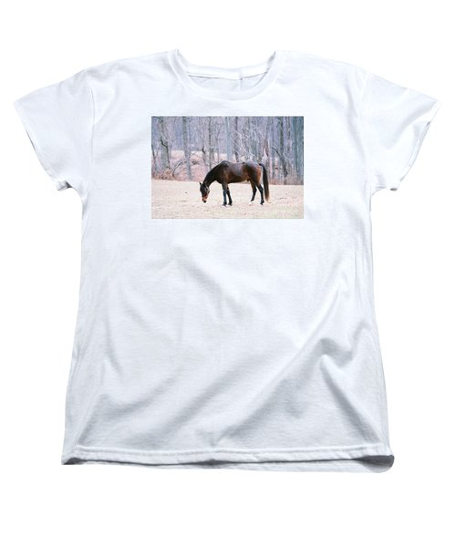 Women's T-Shirt (Standard Cut) featuring the photograph Grazing by Polly Peacock