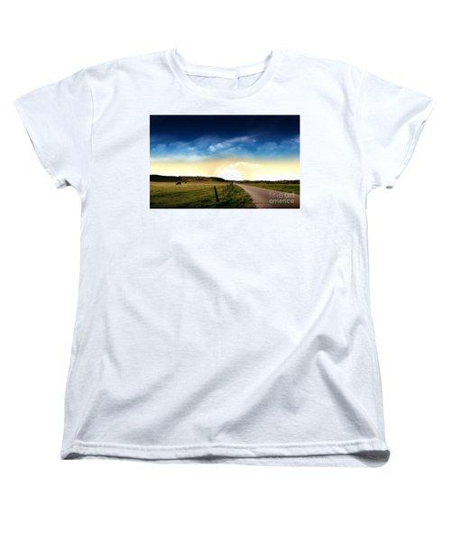 Grazing Time Women's T-Shirt (Standard Cut) by Rod Jellison