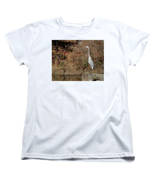 Women's T-Shirt (Standard Cut) featuring the photograph Great Blue Heron Standing Tall by George Randy Bass