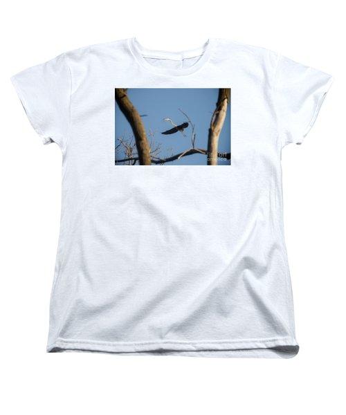 Women's T-Shirt (Standard Cut) featuring the photograph Great Blues Nesting by David Bearden